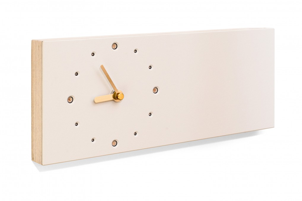Elongated Wall Clock White Klotzaufklotz Com