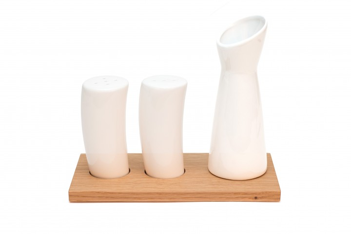 Salt and Pepper Shakers Oak