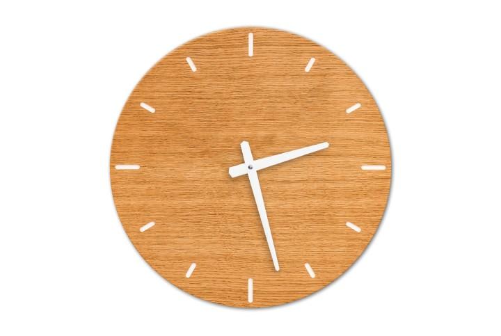 Wall Clock Oak, round