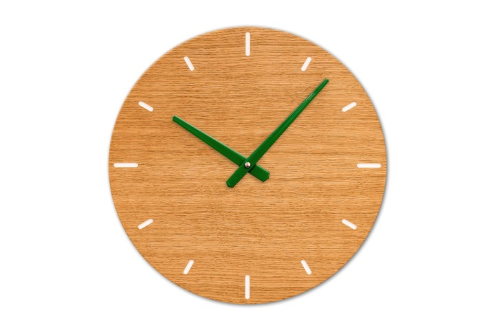 Wall Clock Oak, round