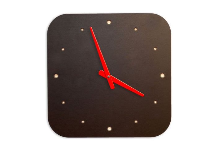 Wall Clock Black, rounded off