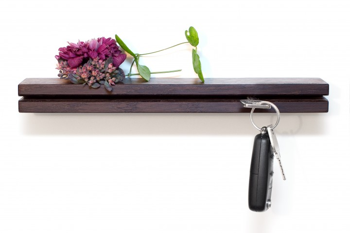 Wall Key Holder Fumed Oak