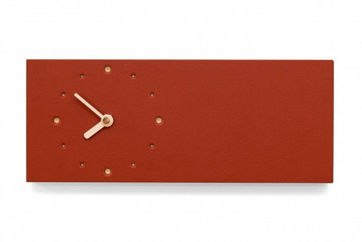 Elongated Wall Clock, Salsa