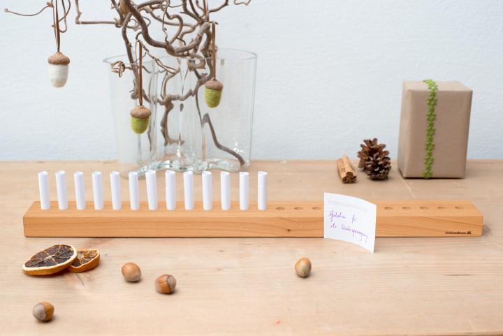 Voucher Advent Calendar Cherry Wood