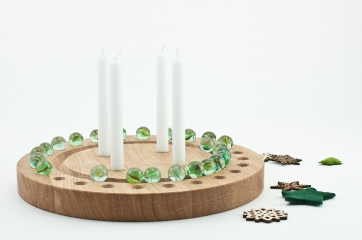 Advent Wreath Oak, round