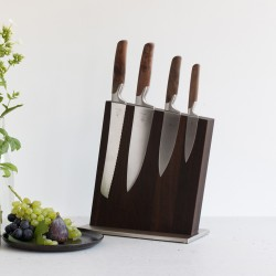 Knife Block Fumed Oak