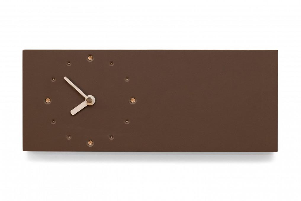 Elongated Wall Clock, Mauve