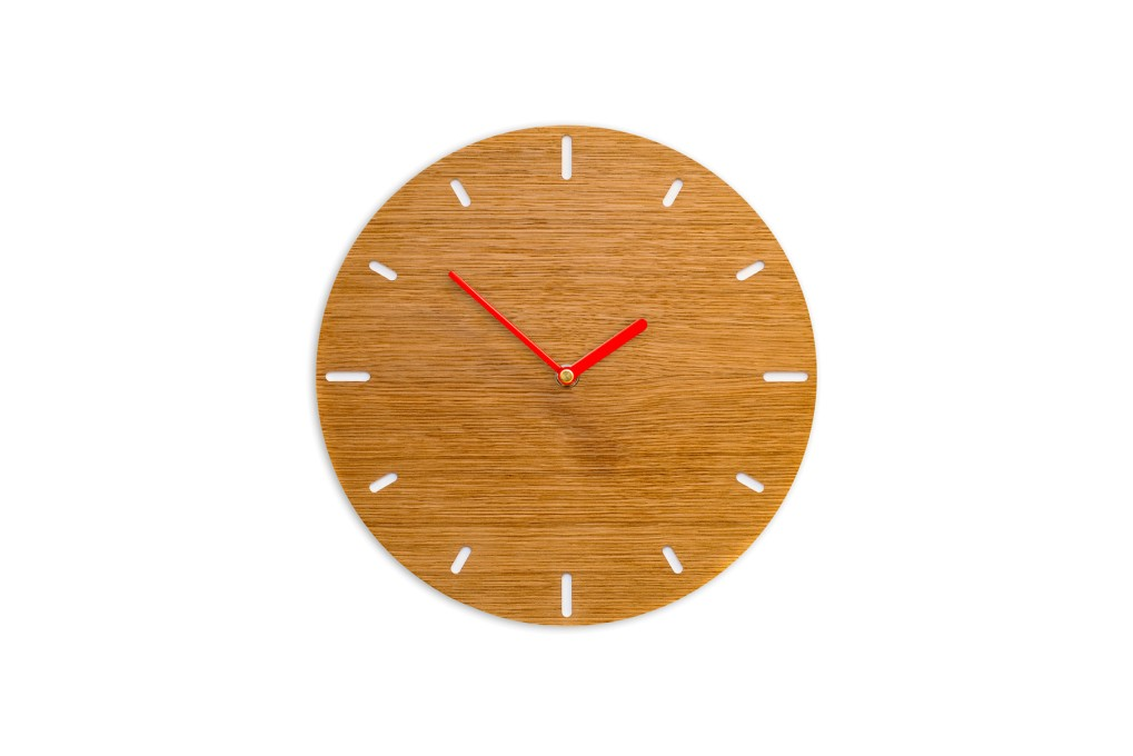 Small Wall Clock Oak, round