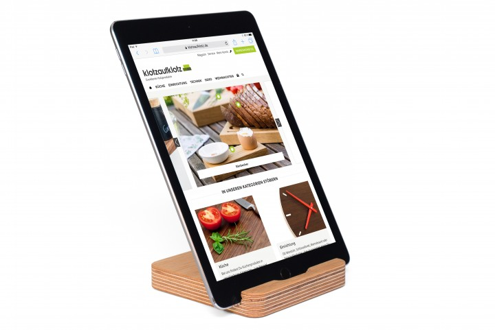 Tablet Stand Multiplex, Oak