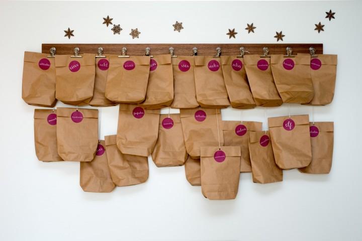 Advent Calendar Clip Nut Wood