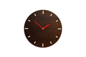 Small Wall Clock Fumed Oak, round