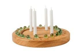 Advent Wreath Oak, round