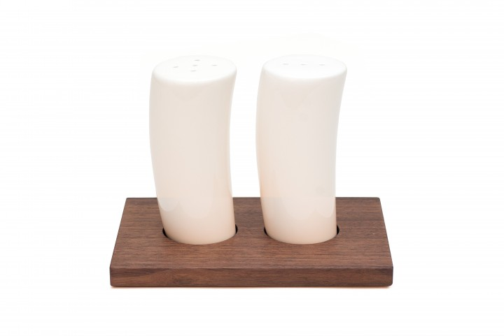 Salt and Pepper Shakers Nut Wood, small