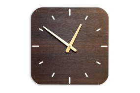 Wall Clock Fumed Oak, rounded off