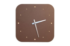 Wall Clock Mauve, rounded off