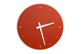 Wall Clock Red, round