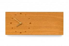 Elongated Wall Clock, Oak