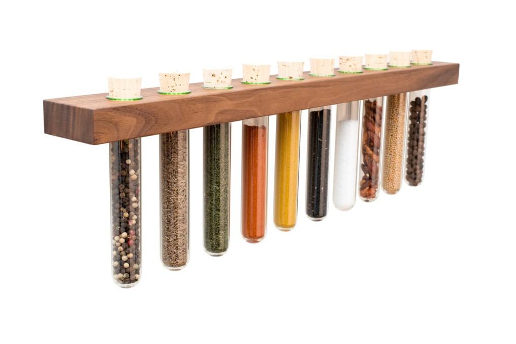 Spice Rack Nut Wood