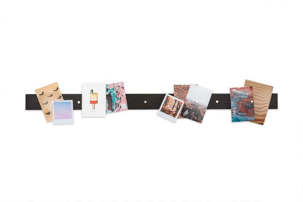 Magnetic Picture Rack, Fumed Oak