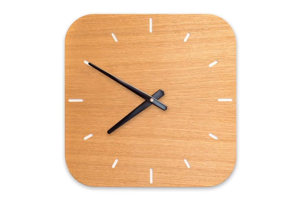 Wall Clock Oak, rounded off