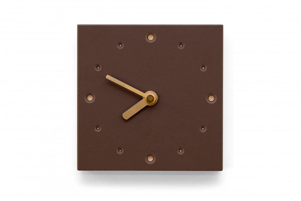 Square Wall Clock, Mauve