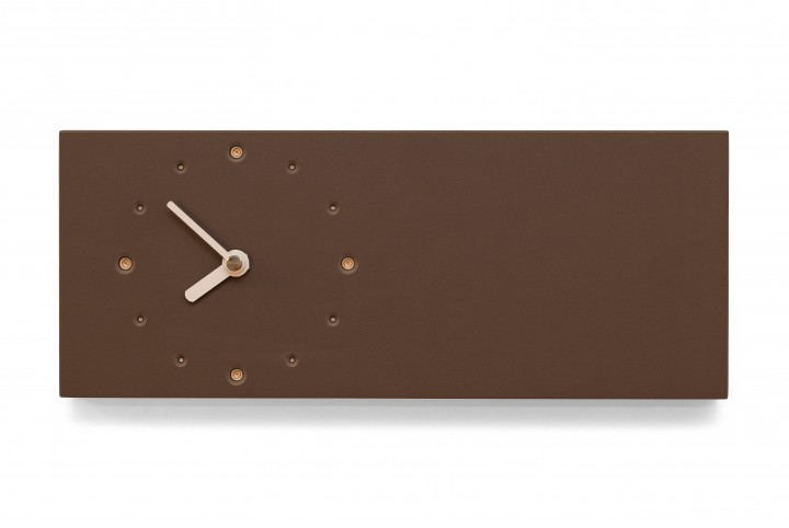 Elongated Wall Clock, Mauve
