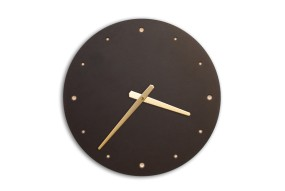 Wall Clock Black, round