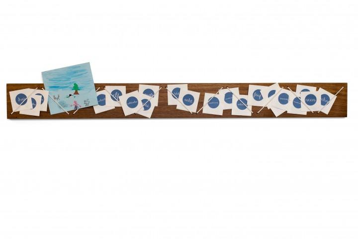 Small Advent Calendar Strings Nut Wood