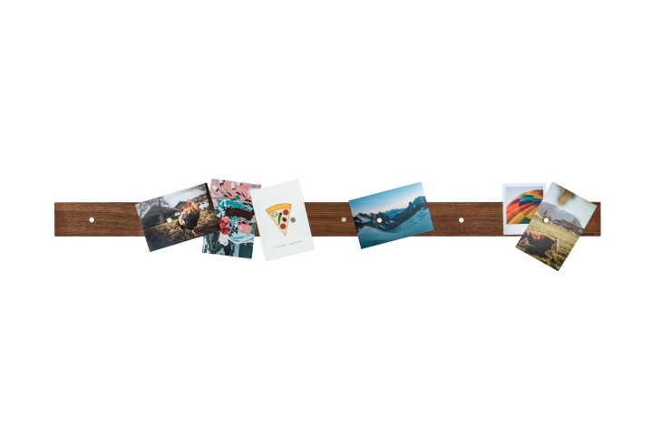 Magnetic Picture Rack, Nut Wood