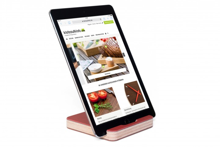 Tablet Stand Linoleum, Red
