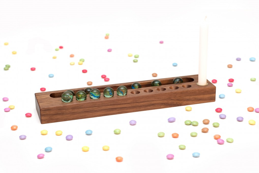 Birthday Calendar Nut Wood