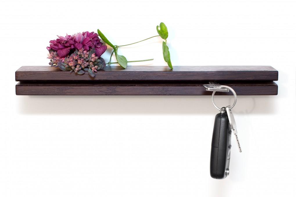 Wall Key Holder Fumed Oak