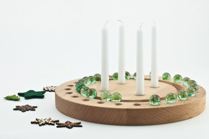 Advent Wreath Beech, round