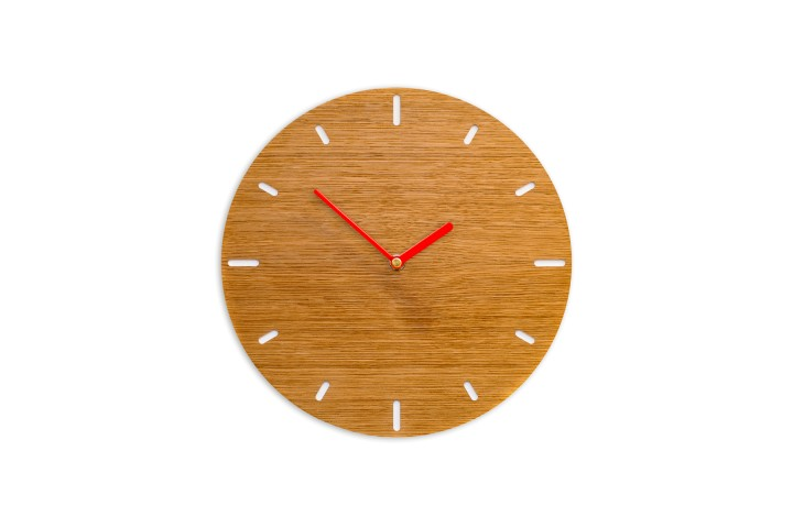 Small Wall Clock Oak, round