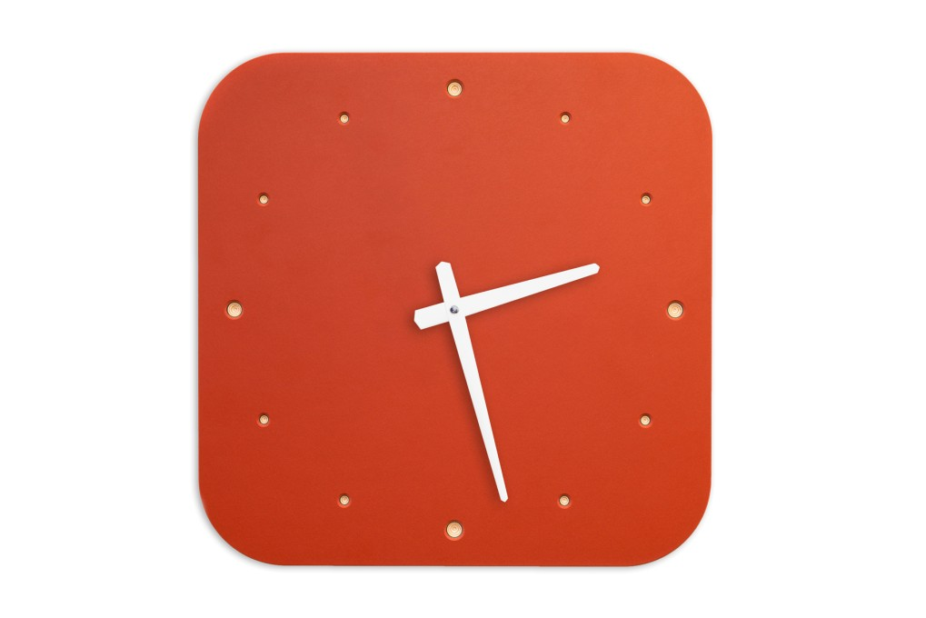 Wall Clock Red, rounded off