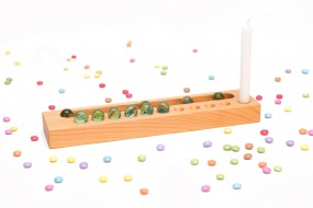 Birthday Calendar Cherry Wood