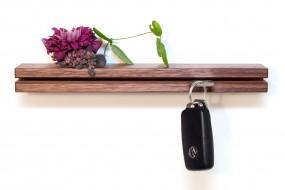 Wall Key Holder Nut Wood