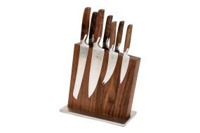 Knife Block Nut Wood, empty