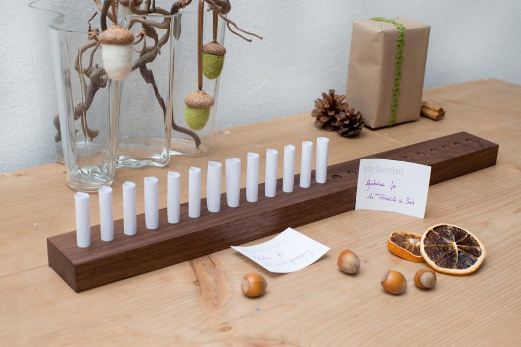 Voucher Advent Calendar Nut Wood