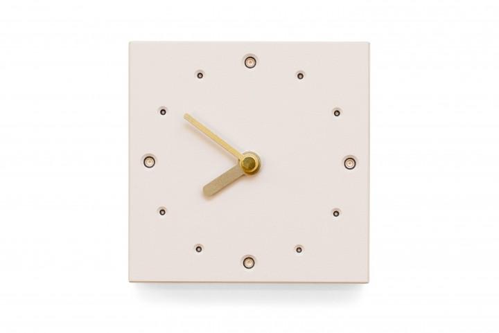 Square Wall Clock, Mushroom
